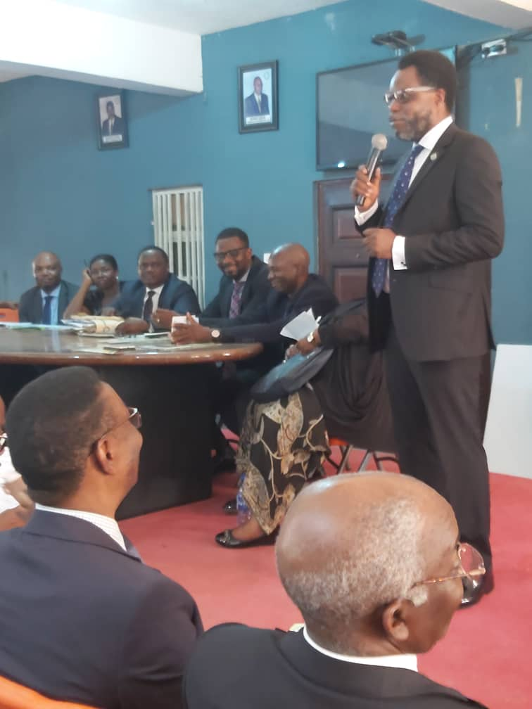Addressing the NBA NBA Ikeja Branch monthly meeting on the 2nd of March, 2020