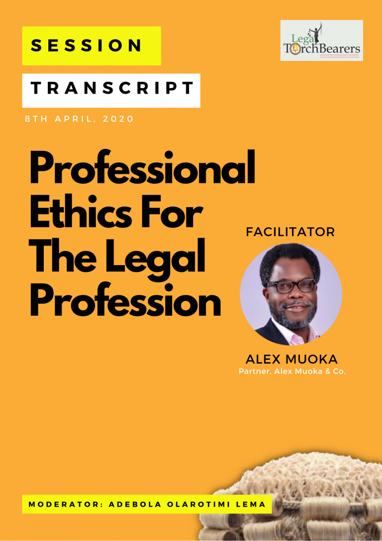 Professional Ethics For The Legal Profession